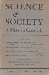 Science & Society: A Marxian Quarterly, Volume 1, Number 1 (Fall 1936)