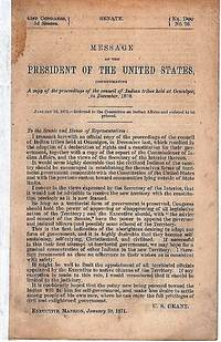 MESSAGE OF THE PRESIDENT OF THE UNITED STATES, COMMUNICATING A COPY OF THE PROCEEDINGS OF THE COUNCIL OF INDIAN TRIBES HELD AT OCMULGEE, IN DECEMBER, 1870.; 41st Congress, 3d Session, Senate, Ex. Coc. No. 26