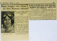 [AVIATION] [WOMEN] [AUTOGRAPH] Autograph Card of Pilot Laura Ingalls Affixed to Envelope with Contemporary Newsclipping