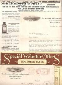 WILLIAM A. WEBSTER CO. ETHICAL PHARMACEUTICAL SPECIALTIES:; Small collection of sales literature