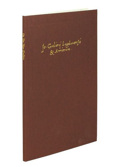 8vo. NY: Grolier Club, 2013. 8vo, 62pp. illustrated in color. Maroon wrappers, backstrip lettered in...