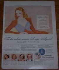 1941 VIRGINIA BRUCE WOODBURY MAGAZINE ADVERTISEMENT