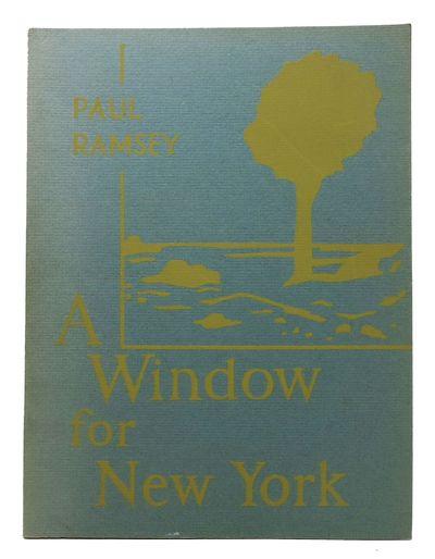 San Francisco: Two Window Press, 1968. 1st edition. Ltd to 725 cc. Blue grey wrappers. Nr Fine.. 34 ...