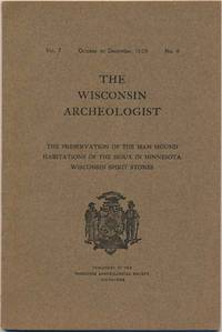 The Wisconsin Archeologist: Vol. 7, No. 4 (October to December, 1908)