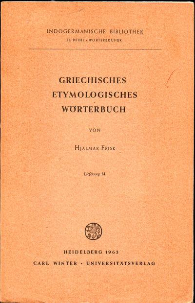 Heidelberg: Carl Winter, 1963. Paperback. Very good. 289-384pp. Wraps tanned, else very good.