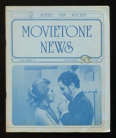 Seattle: The Seattle Film Society. Near Fine. 1975. (No. 38). Stapled wraps. . (B&W photographs) Fea...