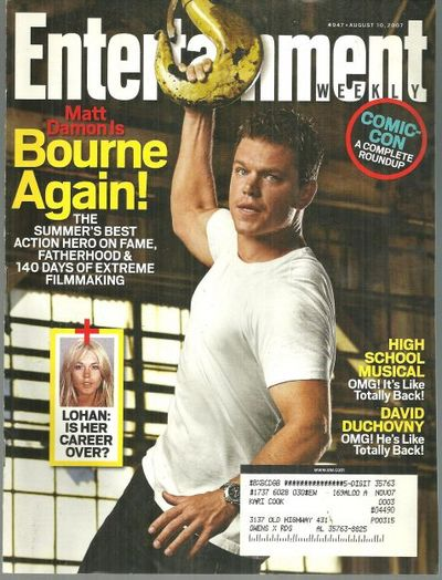 Image for ENTERTAINMENT WEEKLY MAGAZINE AUGUST 10, 2007