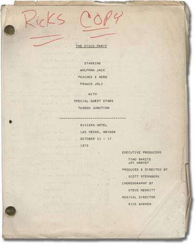 Las Vegas: N.p., 1979. Draft script for the 1979 live Las Vegas revue titled