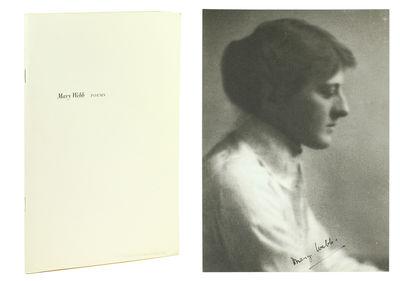 Slim 8vo. NY: Grolier Club, 2010. Slim 8vo, 45, (2)pp. Portrait of Mary Webb loosely inserted. Origi...