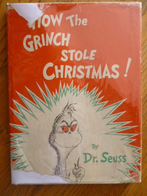 How The Grinch Stole Christmas Book Cover.How The Grinch Stole Christmas By Dr Seuss Theodore Geisel First Edition First Printing 1957 From Gargoyle Books And Biblio Com