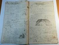 Early 19th Century Handwritten Mechanic's Lesson Book
