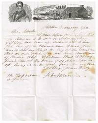 Scarce William Henry Harrison campaign illustrated 1840 stampless letter sheet