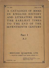Catalogue no. 436/1930: A Catalogue of Books in English History and  Literature from the Earliest...