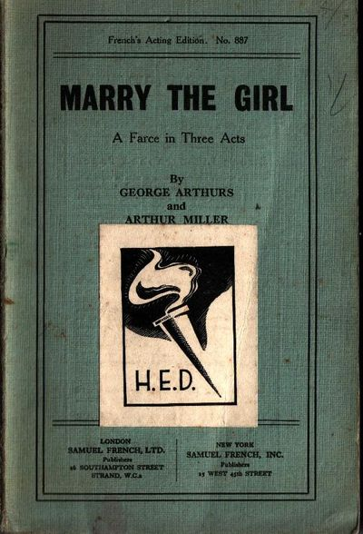Marry the girl a farce in three acts from the library of for Farcical books