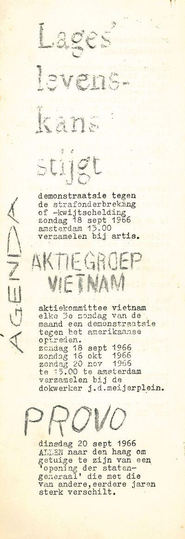 Amsterdam, 1966. Slim quarto (30 × 10.5 cm). Original staple-stitched xeroxed self-wrappers; 27,...