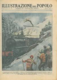 In Cecoslovacchia uno sciatore salta un treno in marcia.