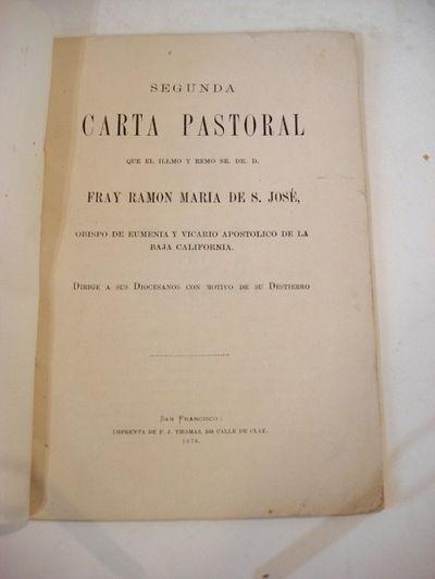 San Francisco: P. J. Thomas, 1876. Wraps. Very good. 8vo. 20pp. Orig. plain wrappers. Scarce. Barret...