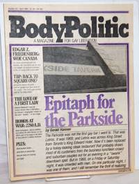 The Body Politic: a magazine for gay liberation; #62, April, 1980; Epitaph for the Parkside
