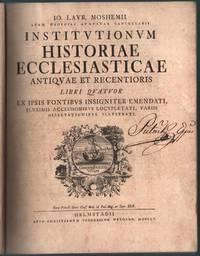 Church History 1755 Institutionum Historiae Ecclesiasticae Von Mosheim