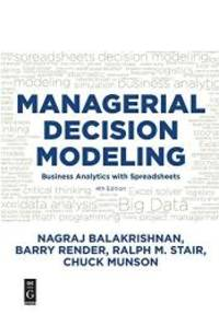 Managerial Decision Modeling by Nagraj (Raju) Balakrishnan - 2017-09-07 - from Books Express and Biblio.com
