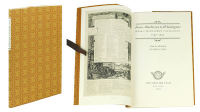 8vo. NY: The Grolier Club, 2007. 8vo, 72 pp. Brown patterned wrappers with white paper label on back...