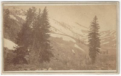 Salt Lake City: C.W. Carter, Portrait and View Artist, 1869. CDV. Carte de visite. Albumen photograp...