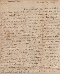 A Lady Doth Protest (Too Much?): An important ALS (Autograph Letter Signed) from Hannah More to her publisher, M[r]. [Thomas] Cadell, Strand, London, regarding the charges of plagiarism leveled at her by Hannah Cowley, datelined Bristol, August 17, 1779