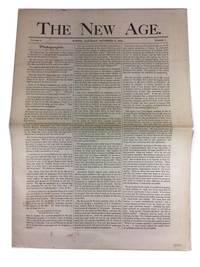 The New Age, Volume I, No. 1 (November 6, 1875)
