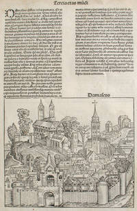 image of Damascus and Trier, from the Nuremberg Chronicle.  Woodblock