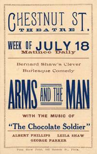 image of 1897 Theater Advertising Card for Bernard Shaw's Arms and the Man