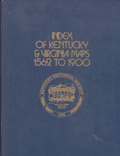 Frankfort, Kentucky: Kentucky Historical Society, 1976. First Edition. Hardcover. Very good. Tall qu...