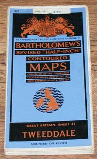 "Tweeddale - Bartholomew's Revised ""Half-Inch"" Contoured Maps, Great Britain Sheet 41"