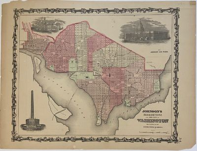 New York: Johnson & Ward, 1863. unbound. Map. Engraving with original hand coloring. Image measures ...