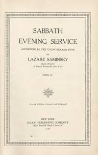 SABBATH EVENING SERVICE ACCORDING TO THE UNION PRAYER BOOK [BOUND WITH]  SABBATH MORNING SERVICE...