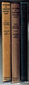 The Making of Scientific Management : Volume 1, Thirteen Pioneers; Volume 2, Management in British Industry; Volume 3, the Hawthorne Investigations