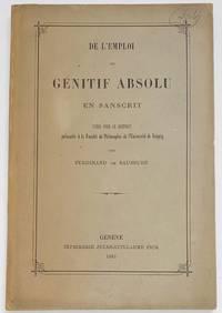 image of L'emploi du génitif absolu en sanscrit