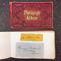 19TH CENTURY AUTOGRAPH ALBUM WITH EMPHASIS ON ABOLITIONISTS