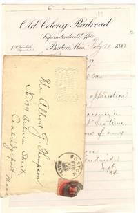 Two letters from Boston Rail companies to Mr. Albert G. Thompson of Cambridgeport, Massachusetts dated February 18, 1882 denying employment