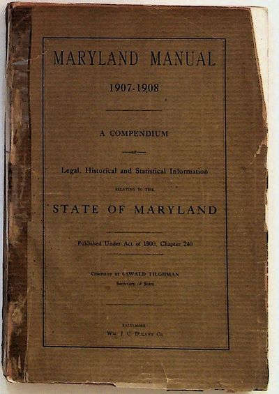 Baltimore: Wm. J. C. Dulany Co, 1908. Hardcover. Very Good -. Hardcover. 8vo. Very good- in beige pa...
