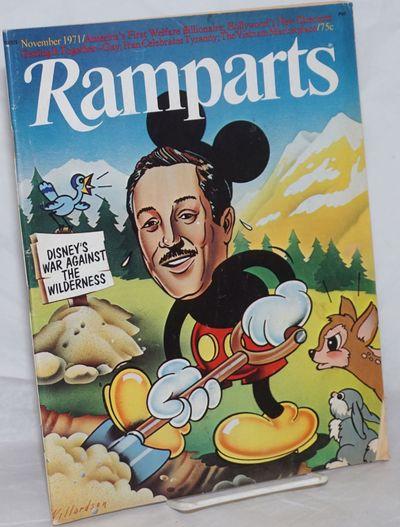 San Francisco: Ramparts Magazine, Inc, 1971. Magazine. 72p., slick magazine format, wraps lightly wo...