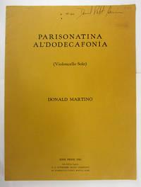 Parisonatina al'Dodecaphonia (Violoncello Solo).