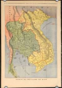 Carte du Royaume de Siam / Vue de Bangkok  (color Map of the Kingdom of Siam and View of Bangkok in complete issue of Le Petit Journal Supplement Illustre)