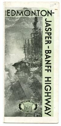 image of Edmonton-Jasper-Banff Highway map leaflet