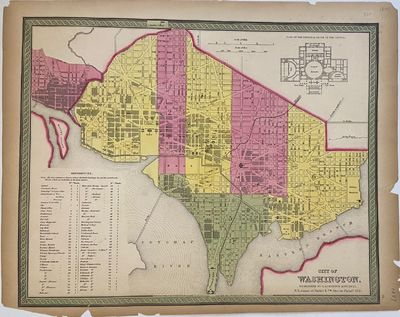 Philadelphia: Mitchell, Samuel Augustus, 1847. unbound. Map. Engraving and lithograph with original ...