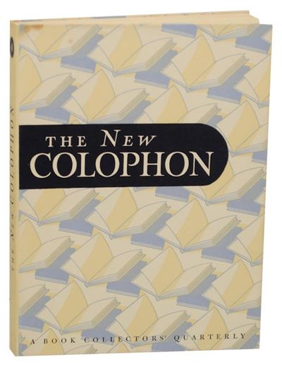 New York: Duschnes Crawford, 1948. First edition. Hardcover. October 1948. Included is an original l...