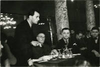 image of Andre Malraux and Andre Gide (Original photograph from a 1936 anti-fascist meeting)