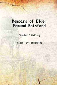 Memoirs of Elder Edmund Botsford 1832