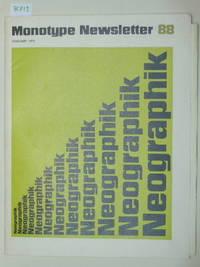 Monotype Newsletter 88, February 1971: Neographik