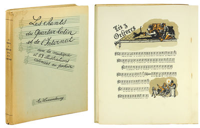 Luxembourg: Privately Printed, n.d. . 4to, 214 pp. With 53 color pochoir illustrations. Original pri...