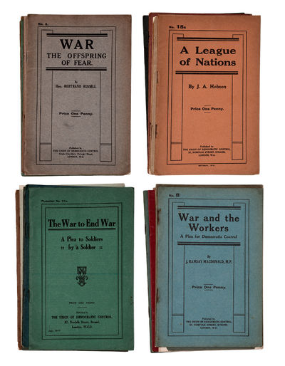 [Collection of anti-WWI pamphlets and...